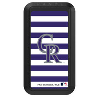 Black HANDLstick with Colorado Rockies Stripes design