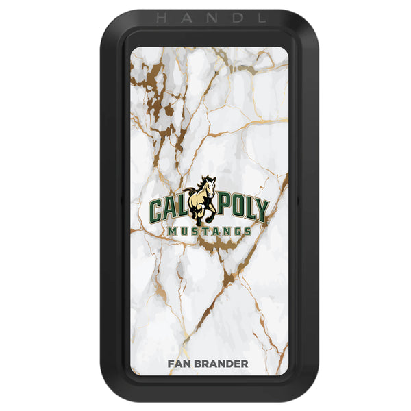 Black HANDLstick with Cal Poly Mustangs Primary Logo with White Marble