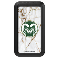 Black HANDLstick with Colorado State Rams Primary Logo with White Marble