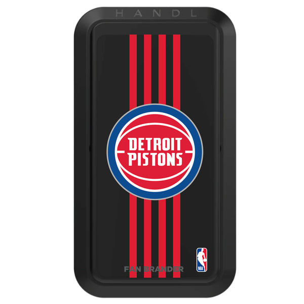 Black HANDLstick with Detroit Pistons Primary Logo with Vertical Stripe