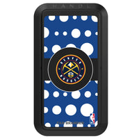 Black HANDLstick with Denver Nuggets Primary Logo with Polka Dots
