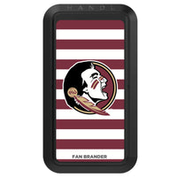 Black HANDLstick with Florida State Seminoles Primary Logo with Stripes