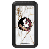 Black HANDLstick with Florida State Seminoles Primary Logo with White Marble