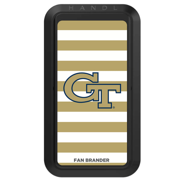 Black HANDLstick with Georgia Tech Yellow Jackets Primary Logo with Stripes