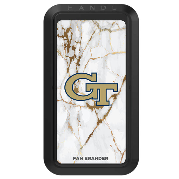 Black HANDLstick with Georgia Tech Yellow Jackets Primary Logo with White Marble
