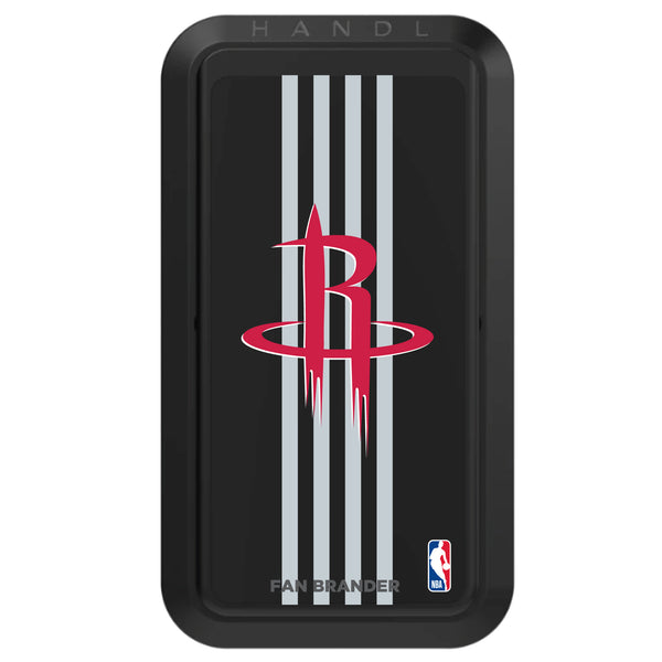 Black HANDLstick with Houston Rockets Primary Logo with Vertical Stripe