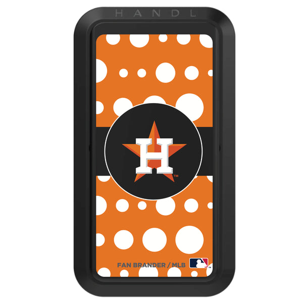 Black HANDLstick with Houston Astros Polka Dots