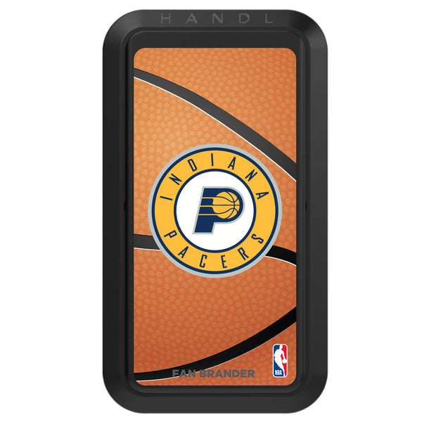 Black HANDLstick with Indiana Pacers Primary Logo with Basketball Background