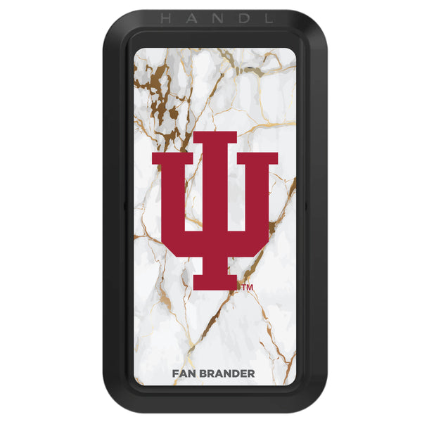 Black HANDLstick with Indiana Hoosiers Primary Logo with White Marble