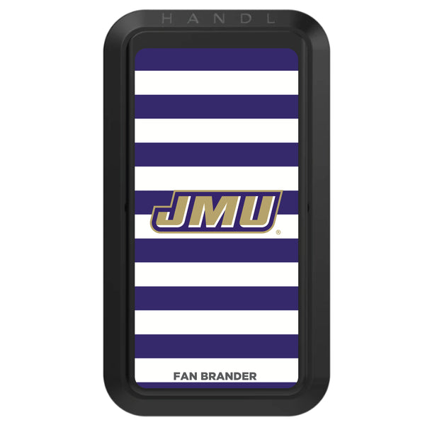 Black HANDLstick with James Madison Dukes Primary Logo with Stripes