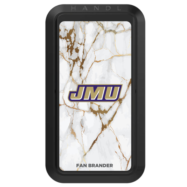 Black HANDLstick with James Madison Dukes Primary Logo with White Marble