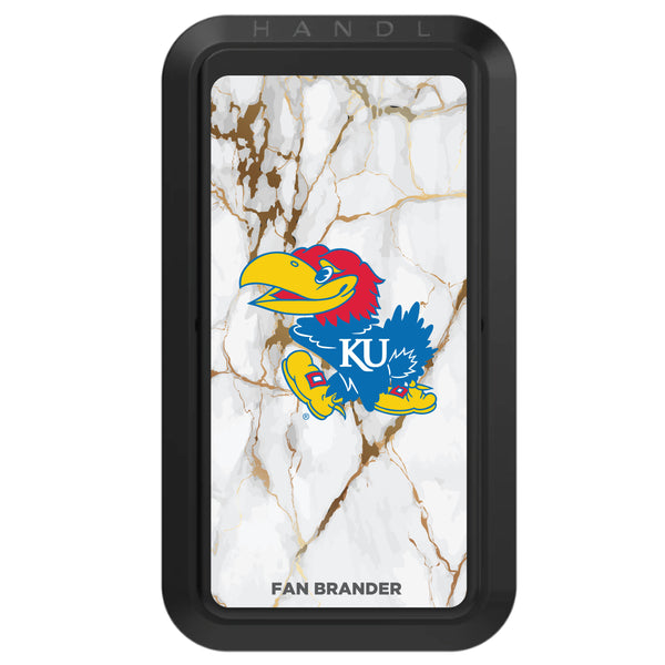 Black HANDLstick with Kansas Jayhawks Primary Logo with White Marble