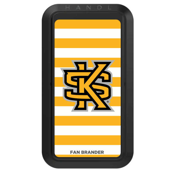 Black HANDLstick with Kennesaw State Owls Primary Logo with Stripes