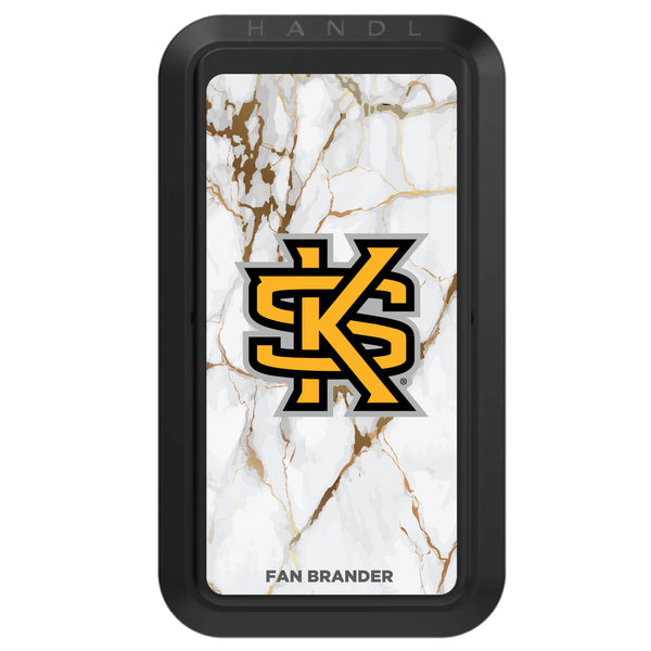 Black HANDLstick with Kennesaw State Owls Primary Logo with White Marble