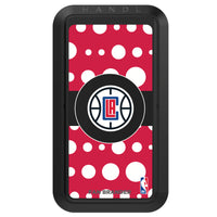 Black HANDLstick with LA Clippers Primary Logo with Polka Dots