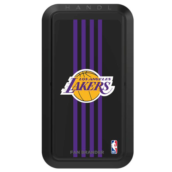 Black HANDLstick with LA Lakers Primary Logo with Vertical Stripe