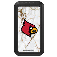 Black HANDLstick with Louisville Cardinals Primary Logo with White Marble