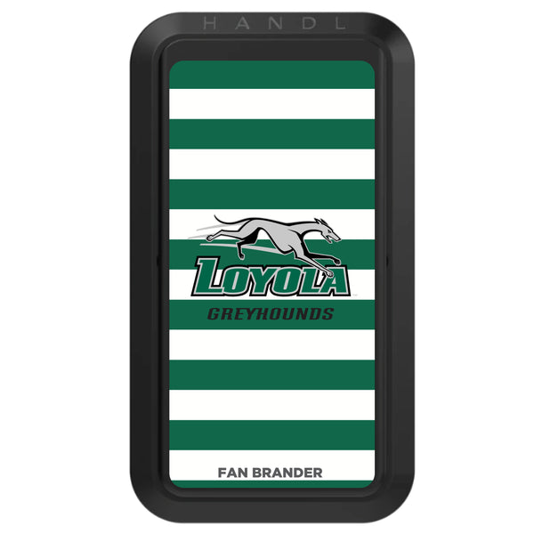 Black HANDLstick with Loyola Univ Of Maryland Hounds Primary Logo with Stripes