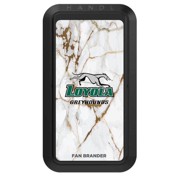 Black HANDLstick with Loyola Univ Of Maryland Hounds Primary Logo with White Marble