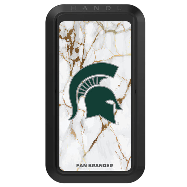 Black HANDLstick with Michigan State Spartans Primary Logo with White Marble