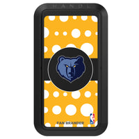 Black HANDLstick with Memphis Grizzlies Primary Logo with Polka Dots