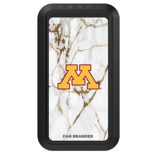 Black HANDLstick with Minnesota Golden Gophers Primary Logo with White Marble