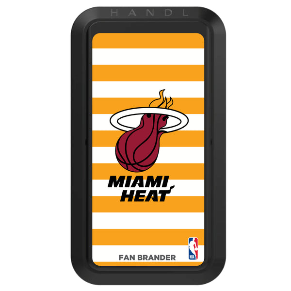 Black HANDLstick with Miami Heat Primary Logo with Stripes