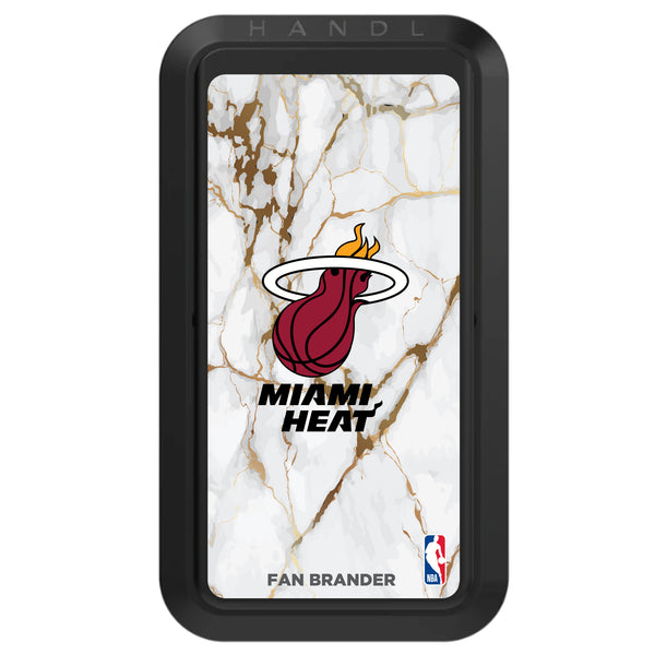 Black HANDLstick with Miami Heat Primary Logo with White Marble Design