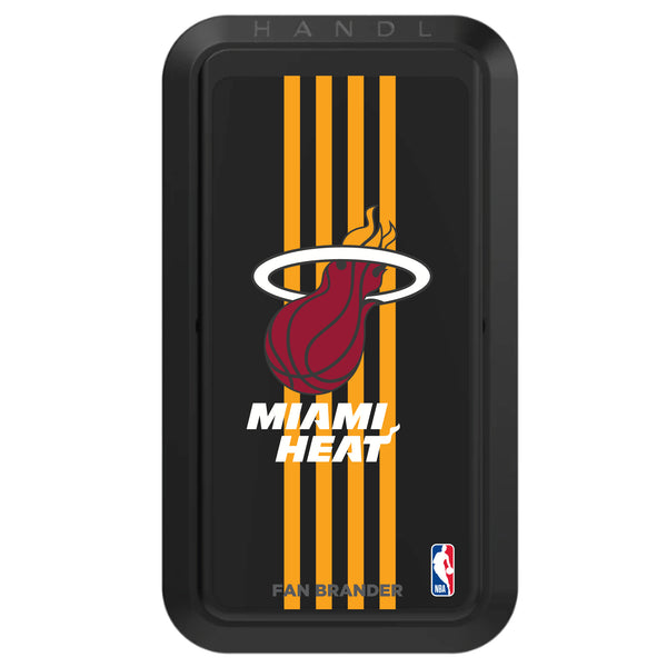 Black HANDLstick with Miami Heat Primary Logo with Vertical Stripe