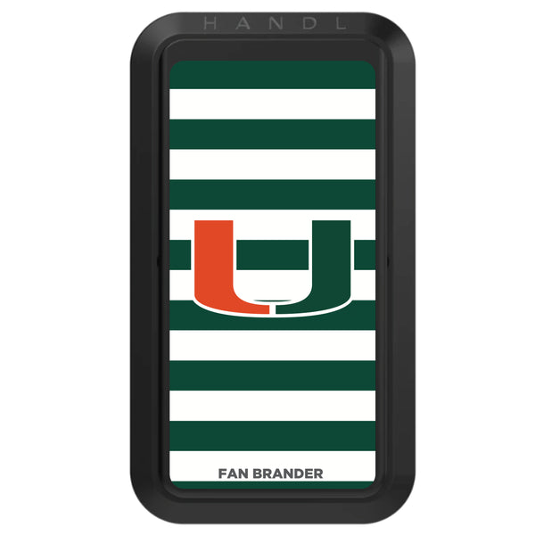 Black HANDLstick with Miami Hurricanes Primary Logo with Stripes