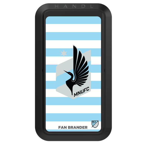 Black HANDLstick with Minnesota United FC Primary Logo with Stripes