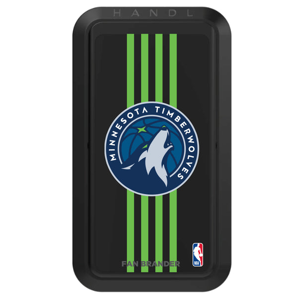 Black HANDLstick with Minnesota Timberwolves Primary Logo with Vertical Stripe