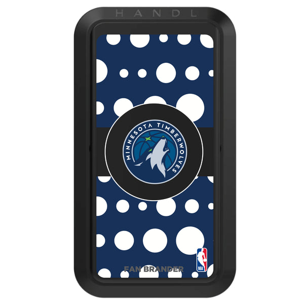 Black HANDLstick with Minnesota Timberwolves Primary Logo with Polka Dots