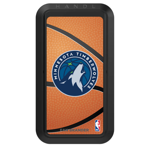 Black HANDLstick with Minnesota Timberwolves Primary Logo with Basketball Background