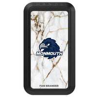 Black HANDLstick with Monmouth Hawks Primary Logo with White Marble
