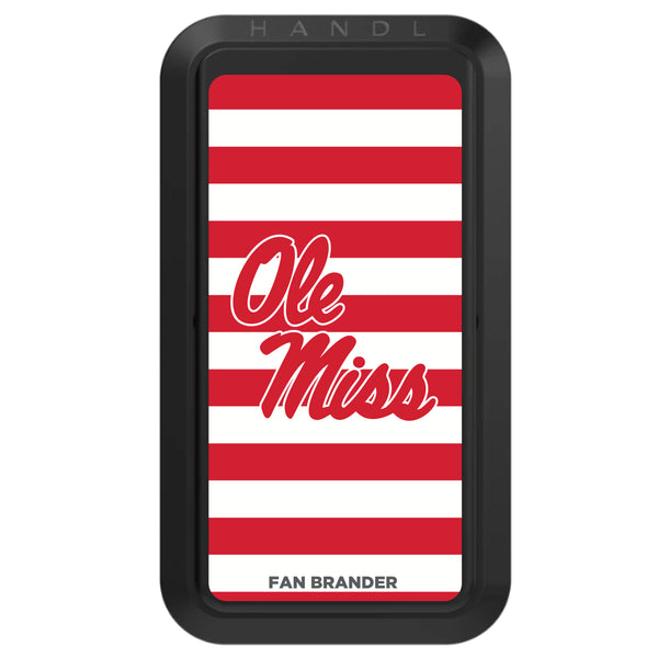 Black HANDLstick with Mississippi Ole Miss Primary Logo with Stripes