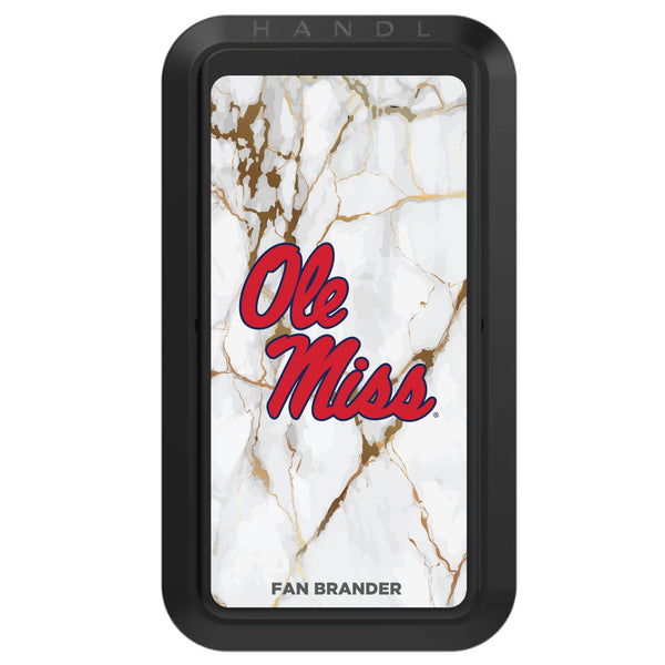 Black HANDLstick with Mississippi Ole Miss Primary Logo with White Marble
