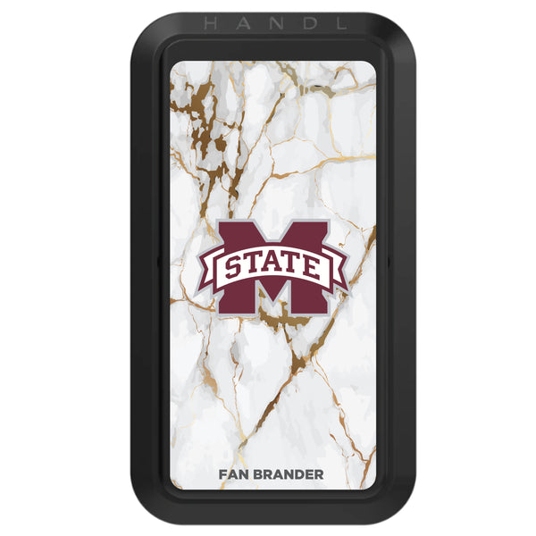 Black HANDLstick with Mississippi State Bulldogs Primary Logo with White Marble