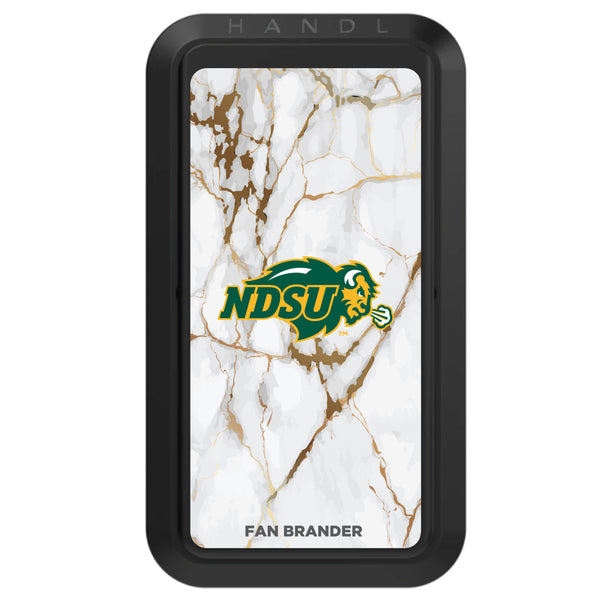 Black HANDLstick with North Dakota State Bison Primary Logo with White Marble