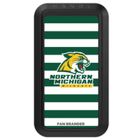 Black HANDLstick with Northern Michigan University Wildcats Primary Logo with Stripes