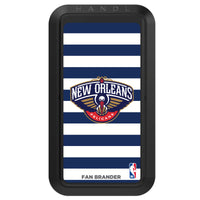 Black HANDLstick with New Orleans Pelicans Primary Logo with Stripes