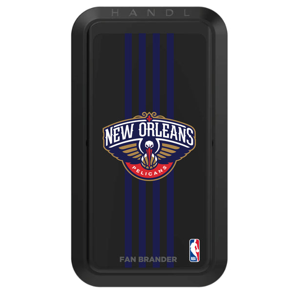Black HANDLstick with New Orleans Pelicans Primary Logo with Vertical Stripe