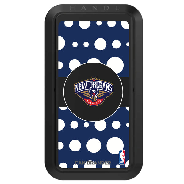 Black HANDLstick with New Orleans Pelicans Primary Logo with Polka Dots