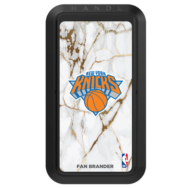 Black HANDLstick with New York Knicks Primary Logo with White Marble Design