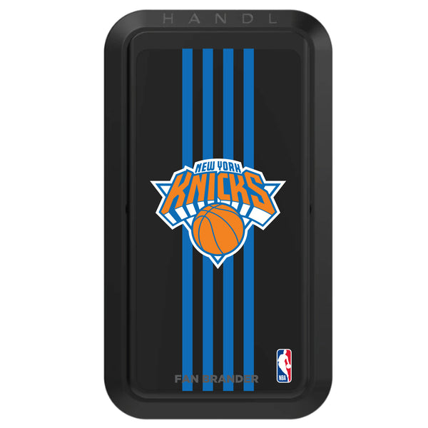 Black HANDLstick with New York Knicks Primary Logo with Vertical Stripe