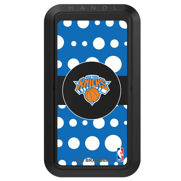 Black HANDLstick with New York Knicks Primary Logo with Polka Dots