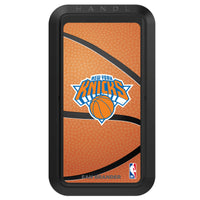 Black HANDLstick with New York Knicks Primary Logo with Basketball Background