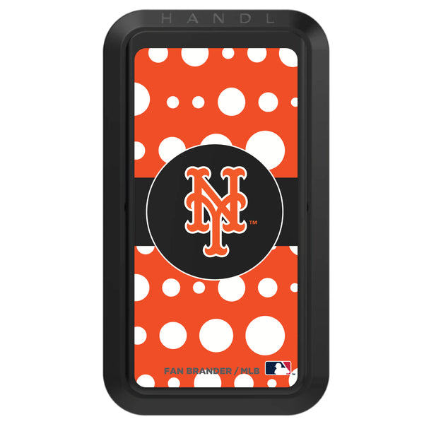 Black HANDLstick with New York Mets Polka Dots