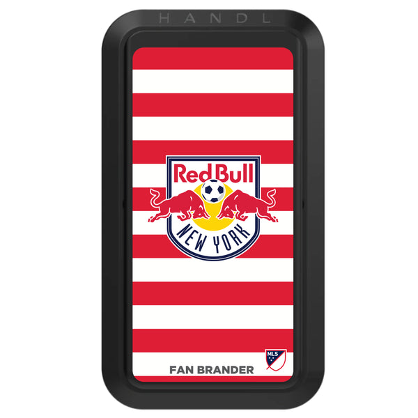 Black HANDLstick with New York Red Bulls Primary Logo with Stripes