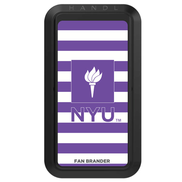 Black HANDLstick with NYU Primary Logo with Stripes
